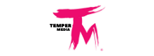 TEMPER MEDIA TRADEMARK LOGO, all rights reserved
